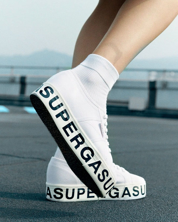 Superga 2790 Flatform Outsole Lettering <br> White