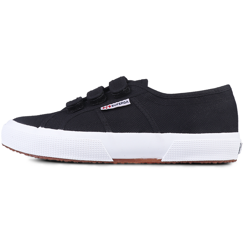 Superga Strap <br> Black Full White