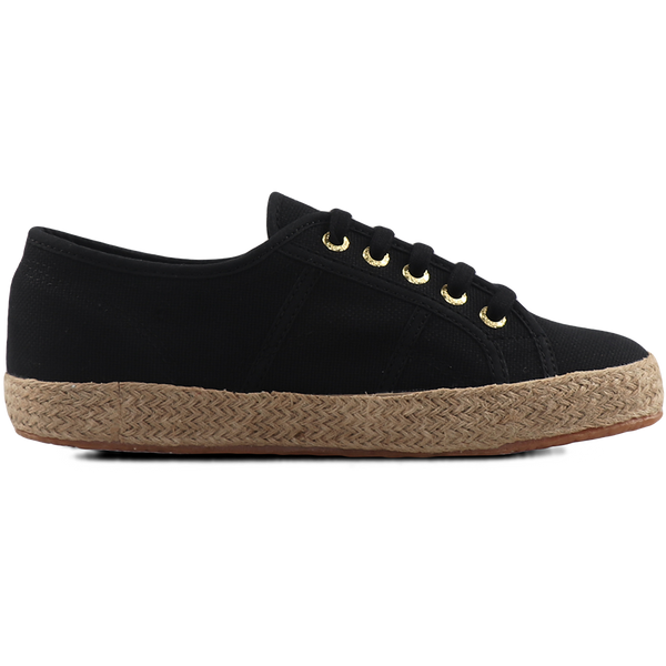 Superga 2750 Espadrille <br> Black-Gold