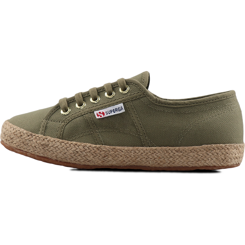 Superga 2750 Espadrille <br> Green Tortora-Gold