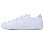 Superga 2843 Club S Lamé <br> White-Grey Silver