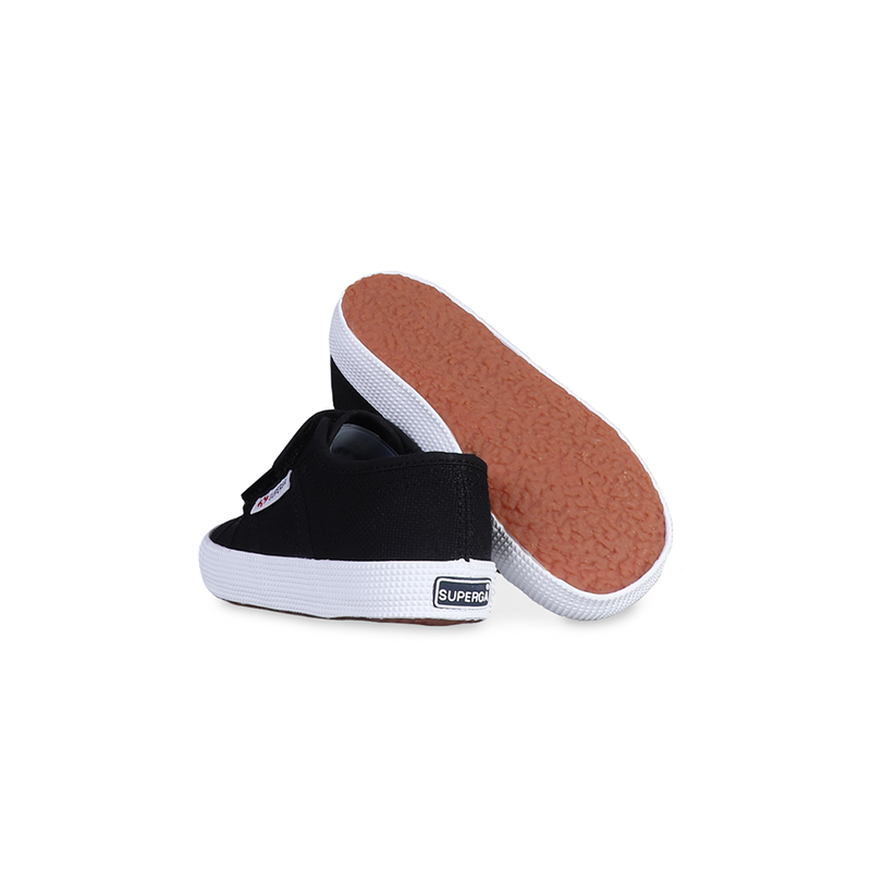 Superga Junior Strap <br> Black-Full White