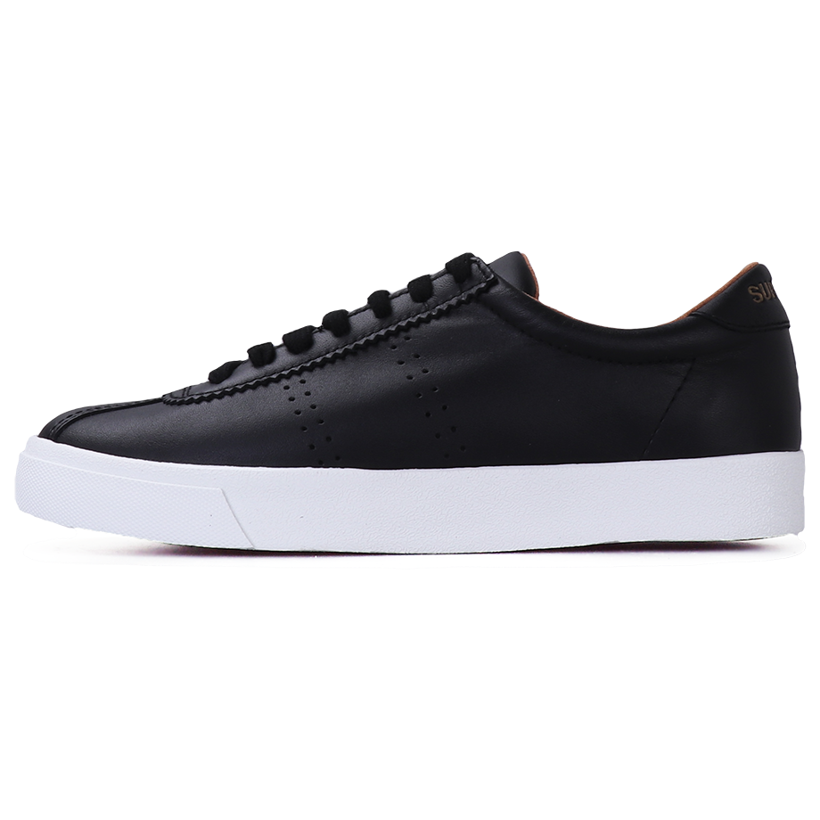 Superga 2843 Club S Leather <br> Black-White