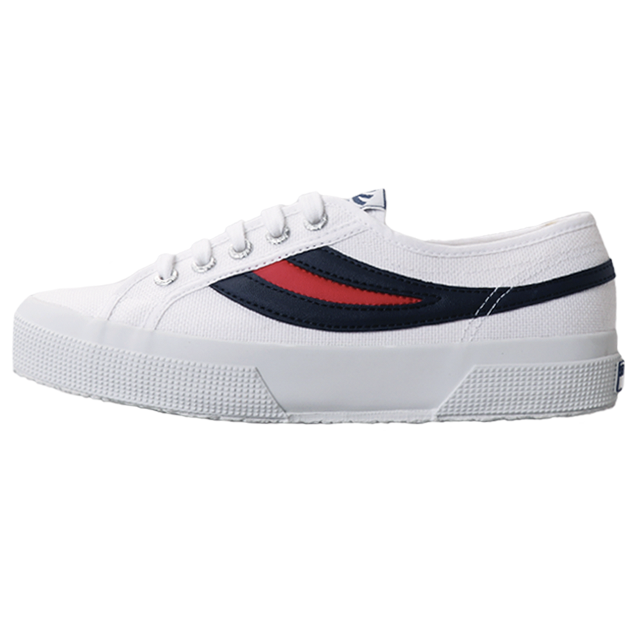 Superga 2750 Swallow Tail <br> White-Navy-Red