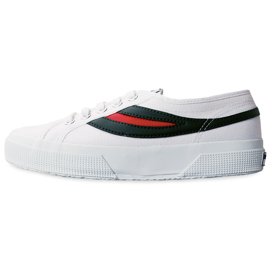 Superga 2750 Swallow Tail <br> White-Evergreen-Red