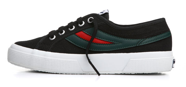 Superga 2750 Swallow Tail - Black/Evergreen/Red <br> S00EXI0 - 936B