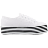 Superga 2790 Flatform <br> White-Black White Stripes