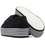 Superga 2790 Flatform <br> Black-Black White Stripes