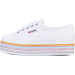 Superga Flatform Multicolor <br> White