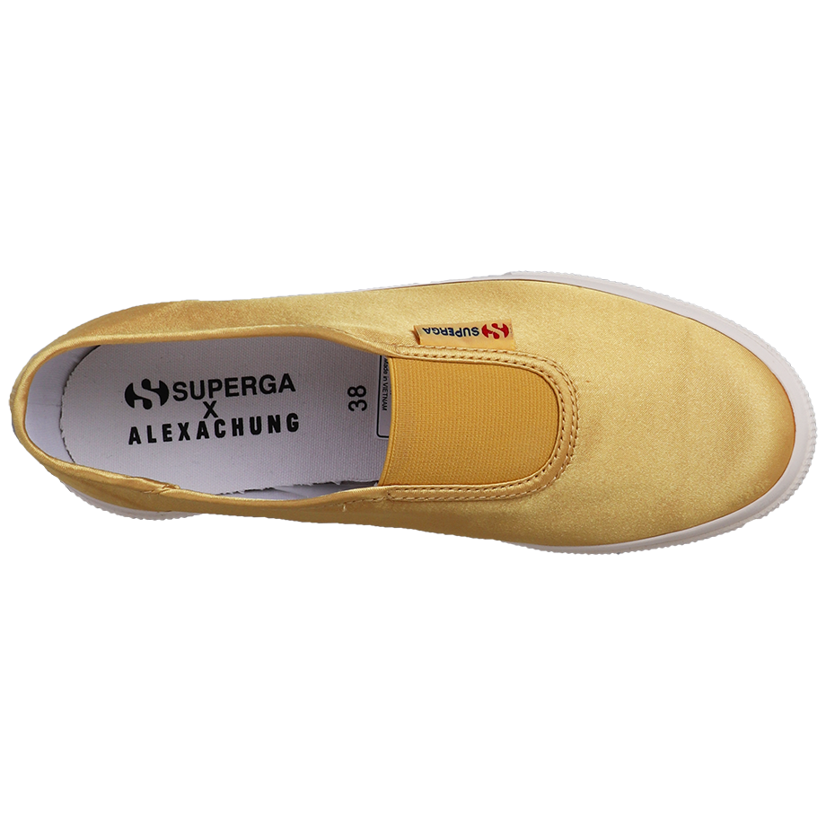 Superga X Alexa Chung 2503 Satin <br> Yellow Mustard