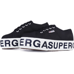 Superga Flatform Outsole Lettering <br> Black