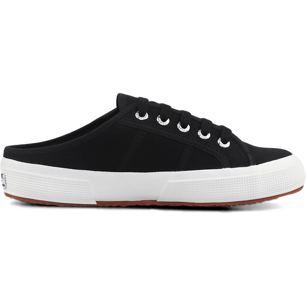 Superga 2402 Mule <br> Black-Full White
