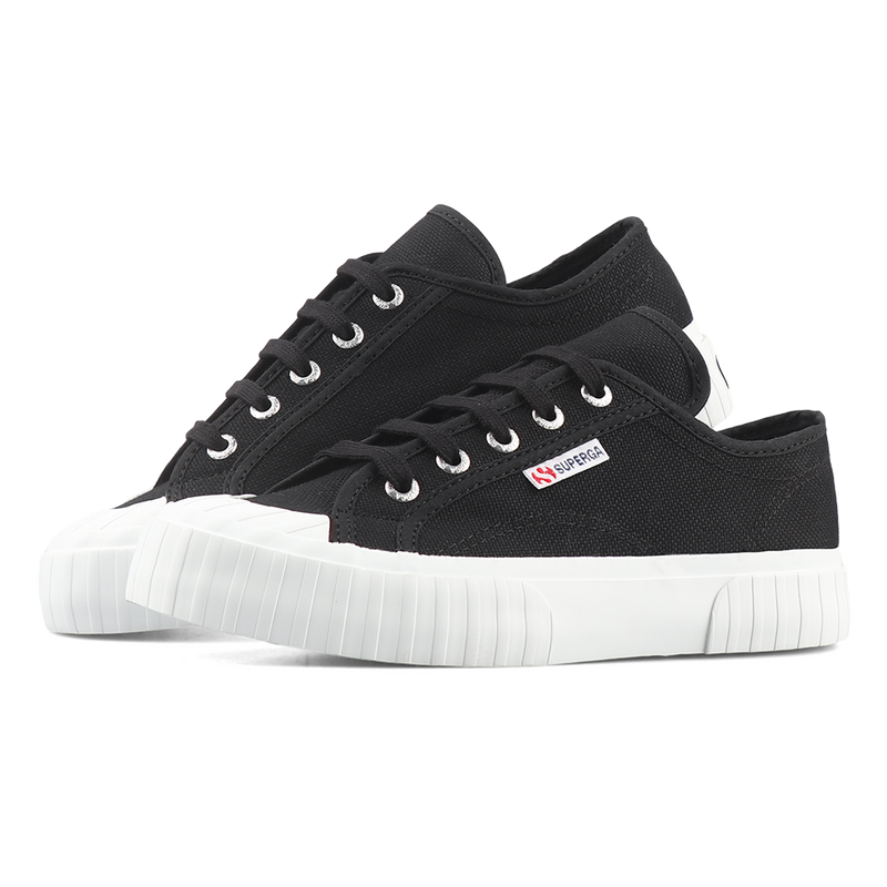 Superga 2630 Stripe <br> Black Full White