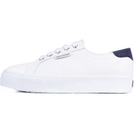 Superga 2730 Nappa Suede <br> White Blue Medieval