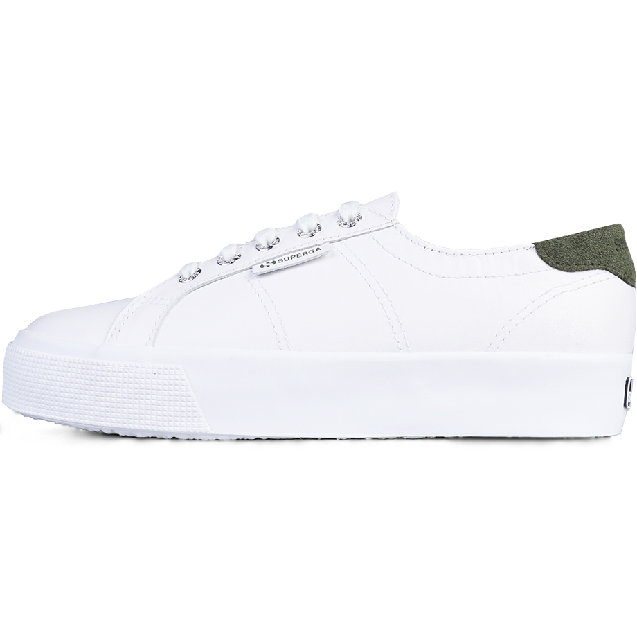 Superga 2730 Nappa Suede <br> White Green Laurel