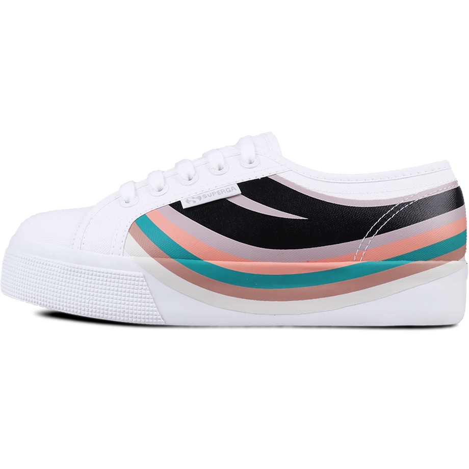 Superga 2730 Swallow Print <br> White Pink Smoke Multicolor