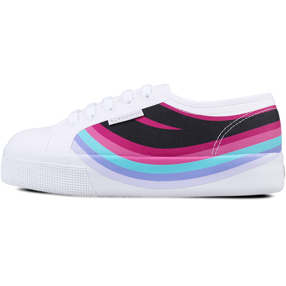 Superga 2730 Swallow Print <br> White Fuchsia Red Multicolor