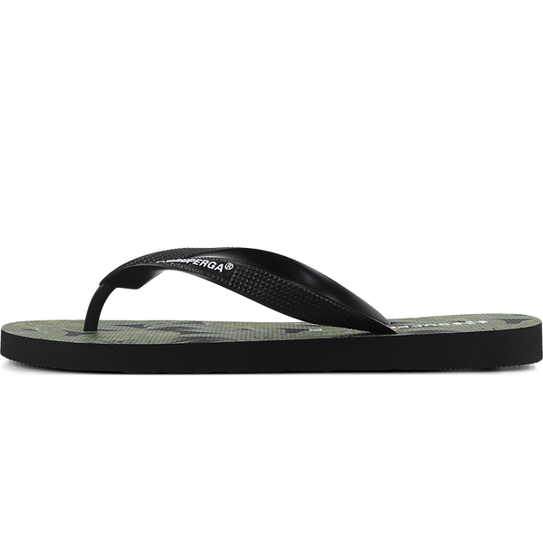 Superga 4121 Fantasy Flip Flop <br> Palms Black