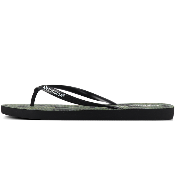 Superga 4121 Fantasy Slim Flip Flop <br> Palms Black