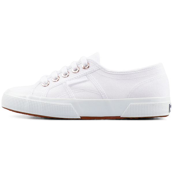 Superga 2750 Big Eyelets <br> White Rose Gold