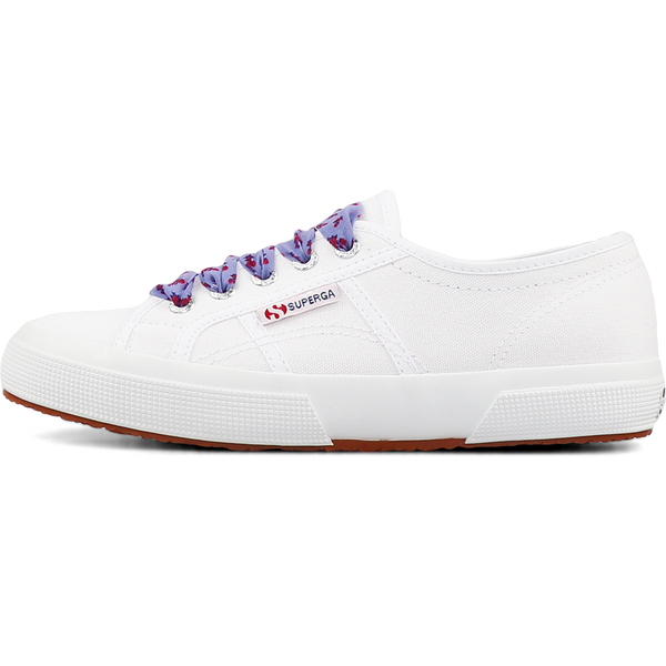 Superga 2750 Printed Laces <br> White-Blue Sky