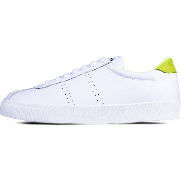 Superga 2843 Club S Leather <br> White-Yellow