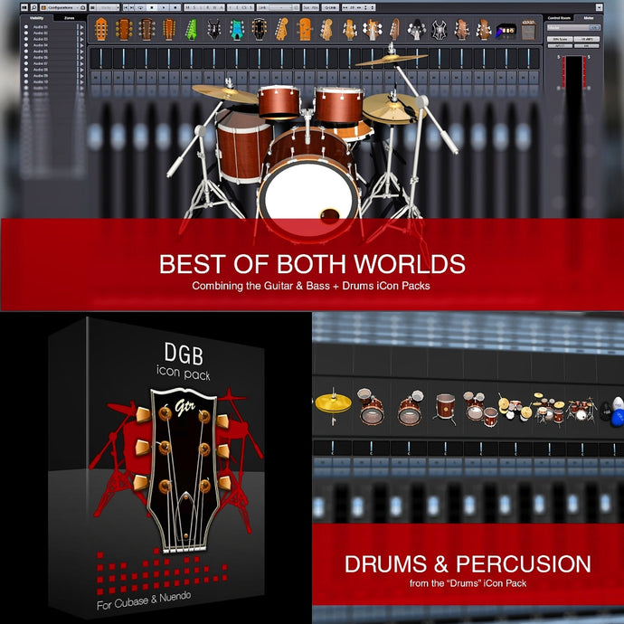 Mix Essentials, Drums & GDB icon packs