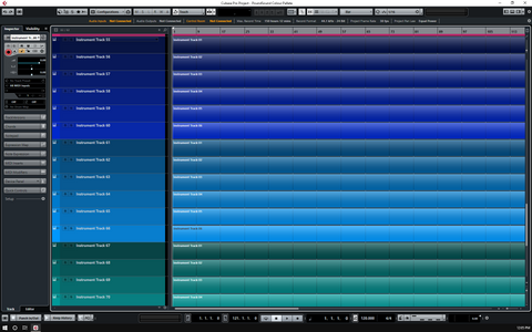 Cubase 9.5 - Custom Colour Pallet