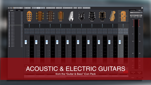 Cubase Track Icons Guitars Drums & Bass