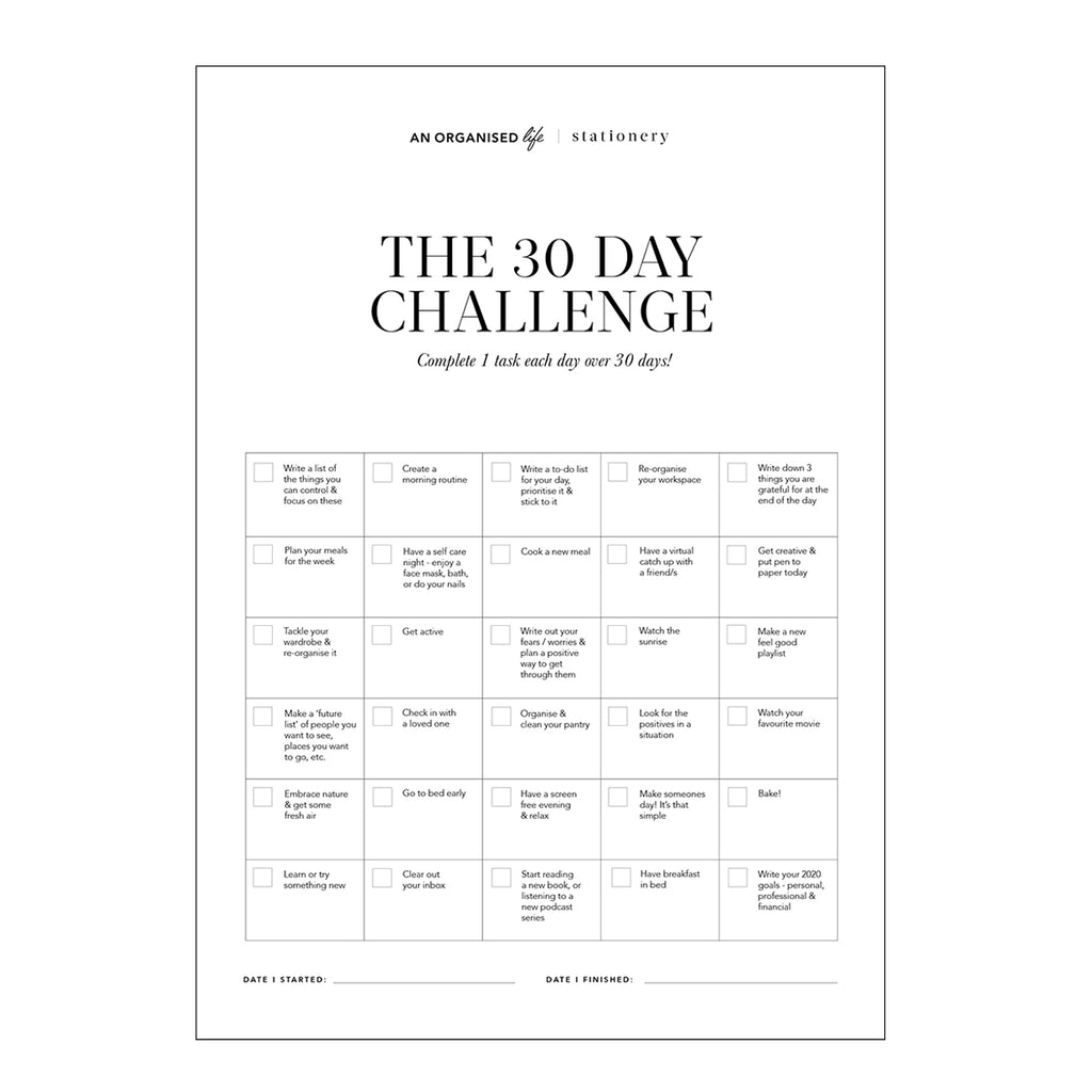 The FREE 30 Day Challenge