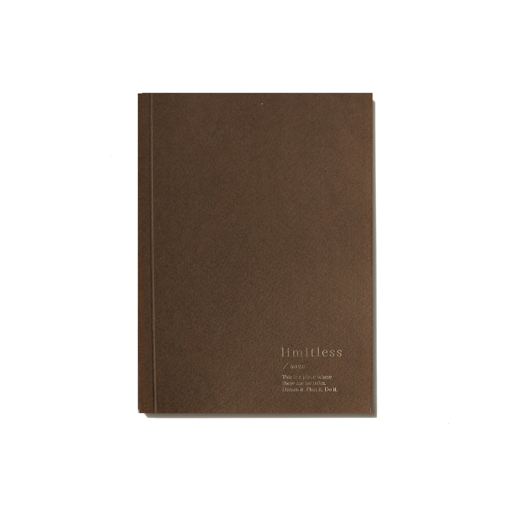 Limitless Blank Notebook - Brown
