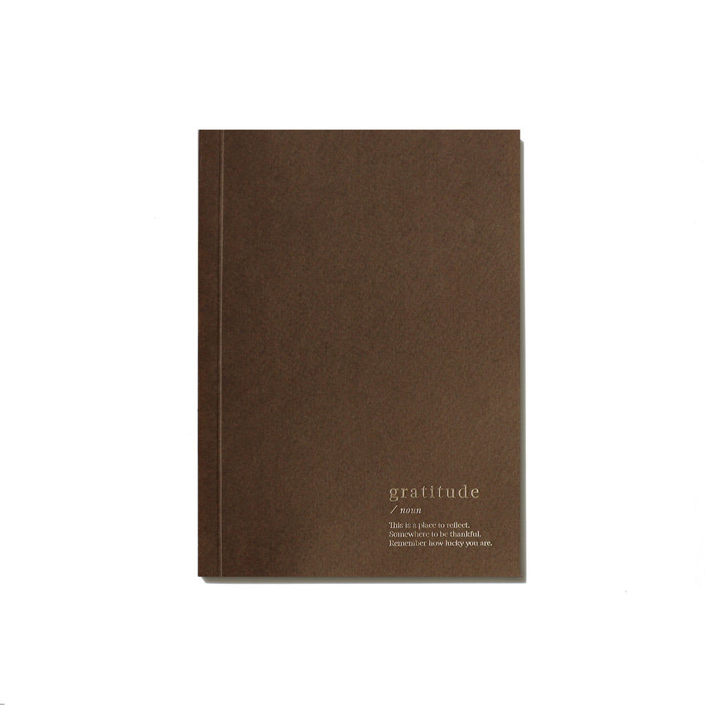 Gratitude Lined Notebook - Brown