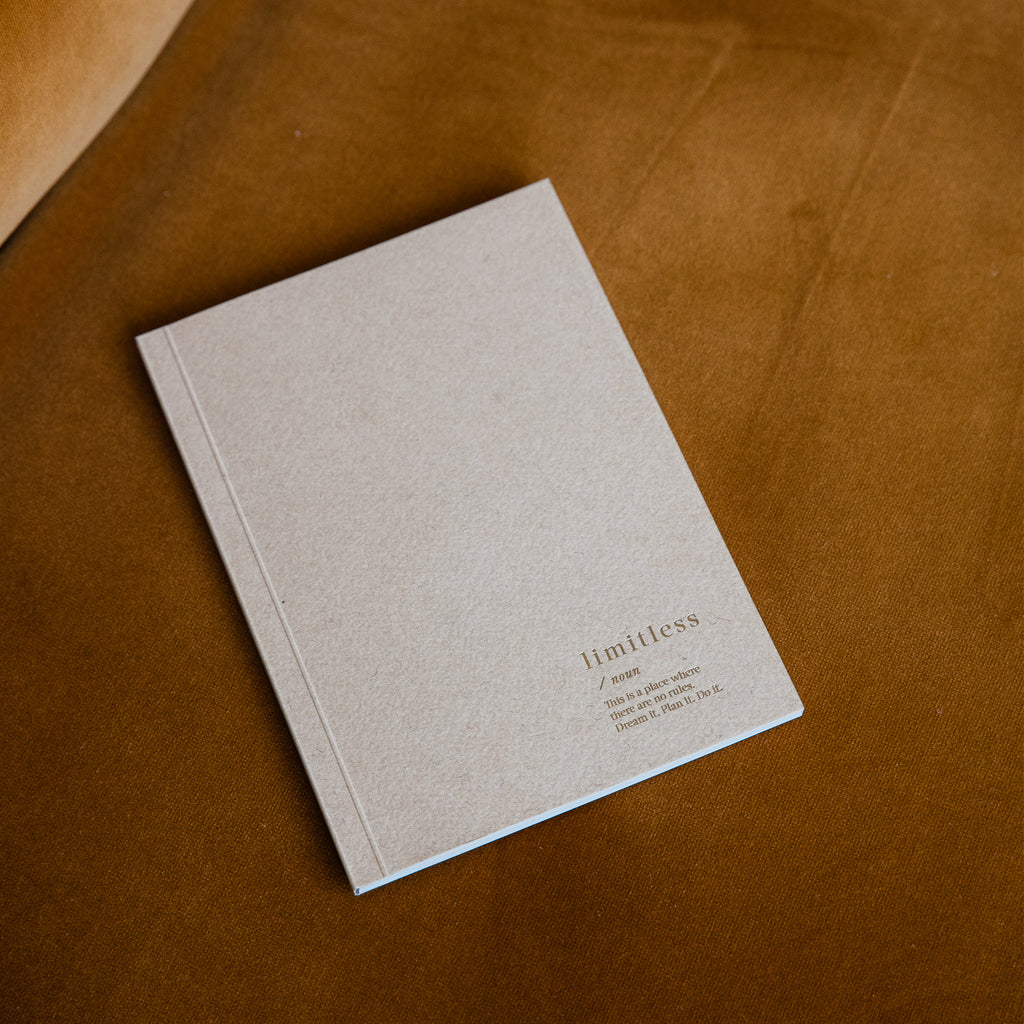 Limitless Blank Notebook - Beige