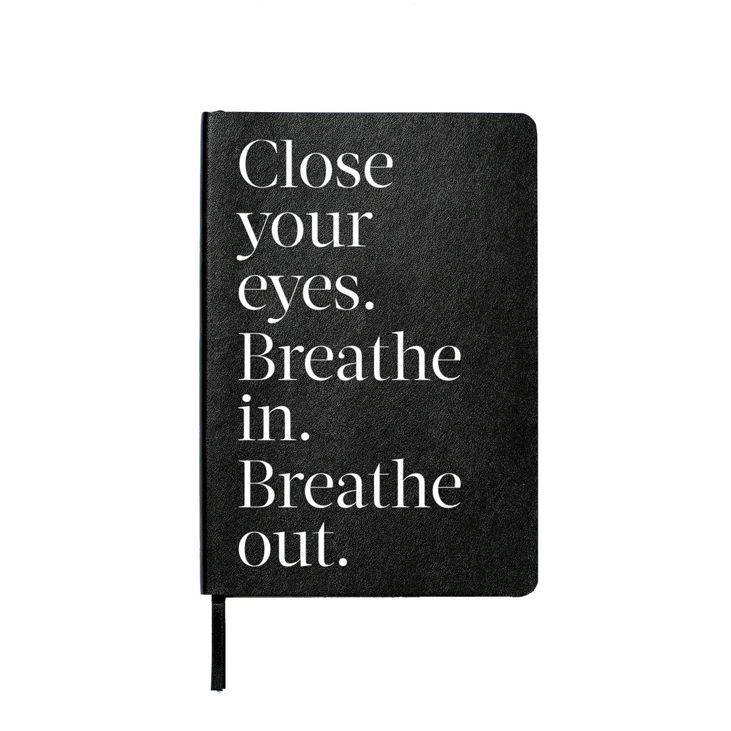 Close Your Eyes Lined Leather Notebook