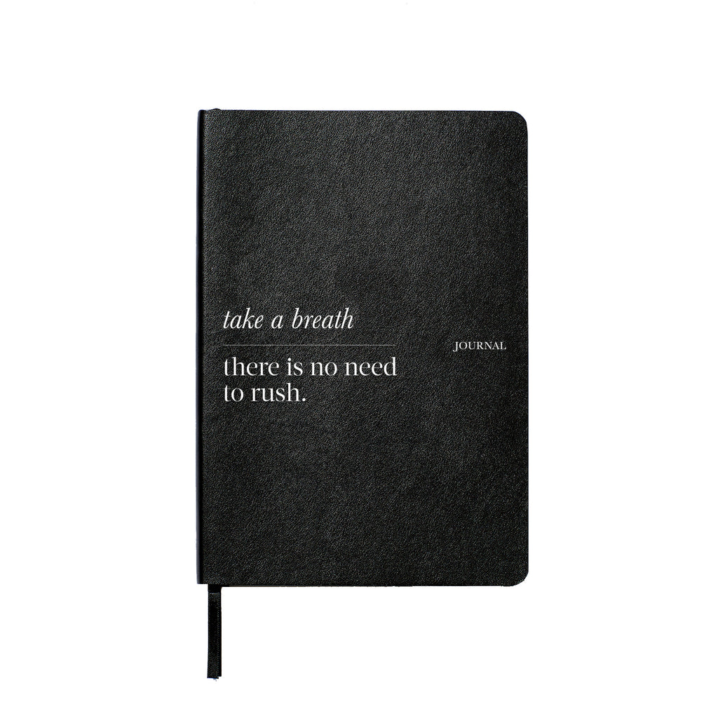 Take a Breath Lined Leather Notebook