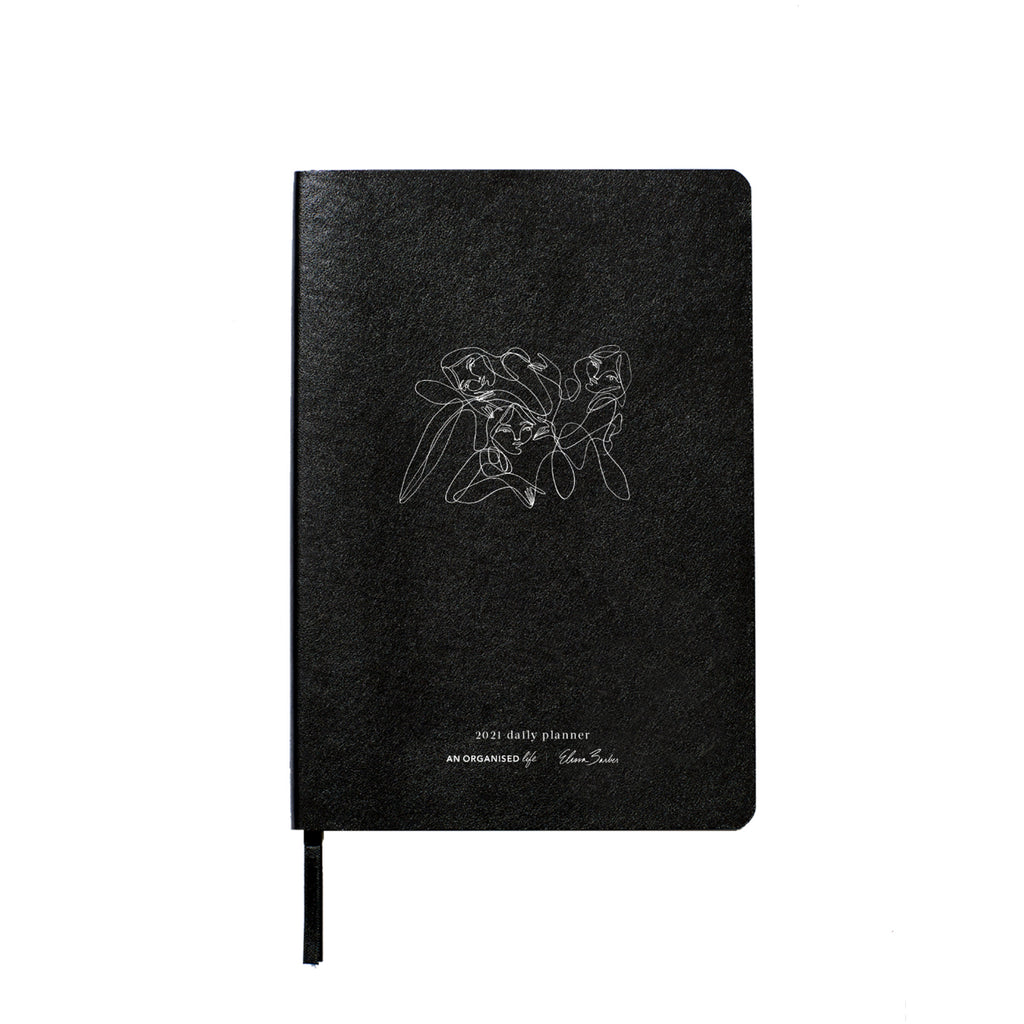 Elissa Barber x AOL 2021 Daily Planner White