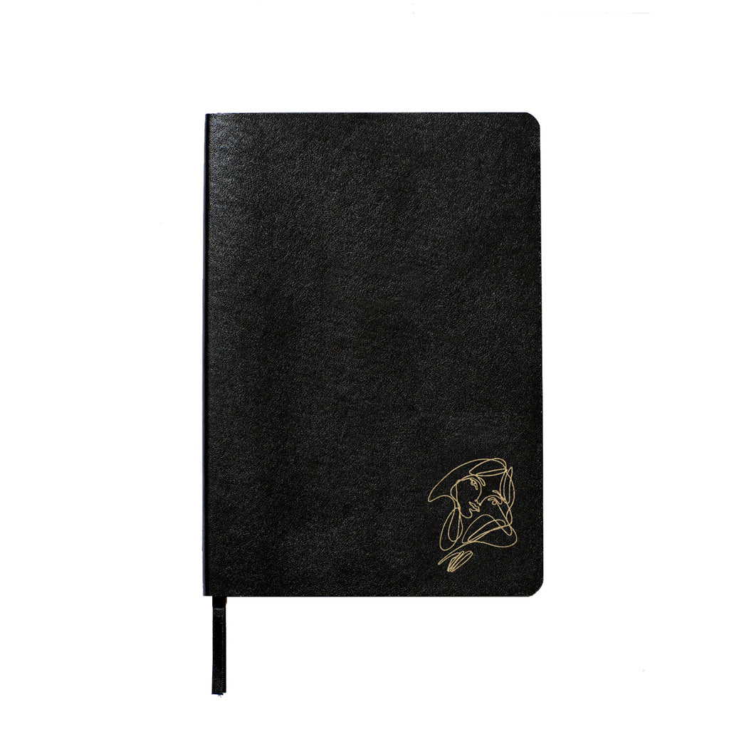 Elissa Barber x AOL Vegan Leather Lined Notebook Gold