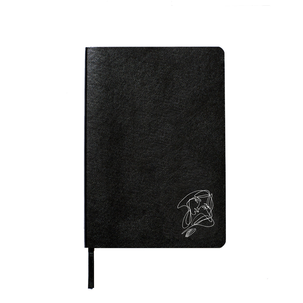 Elissa Barber x AOL Vegan Leather Blank Notebook White
