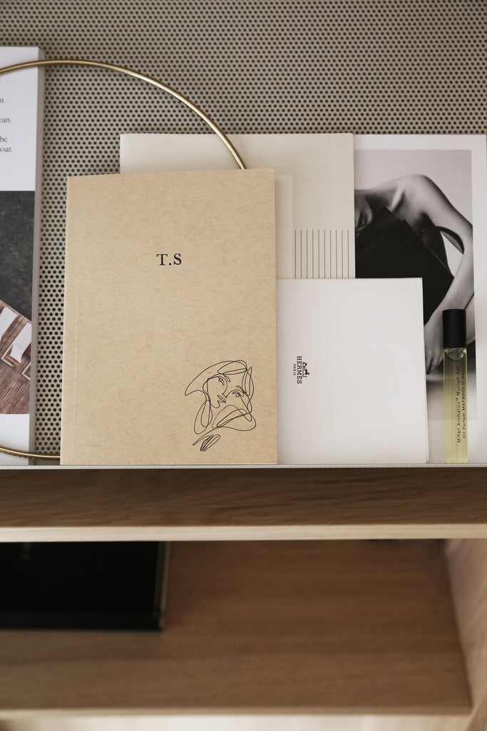 Elissa Barber x AOL Beige Lined Notebook