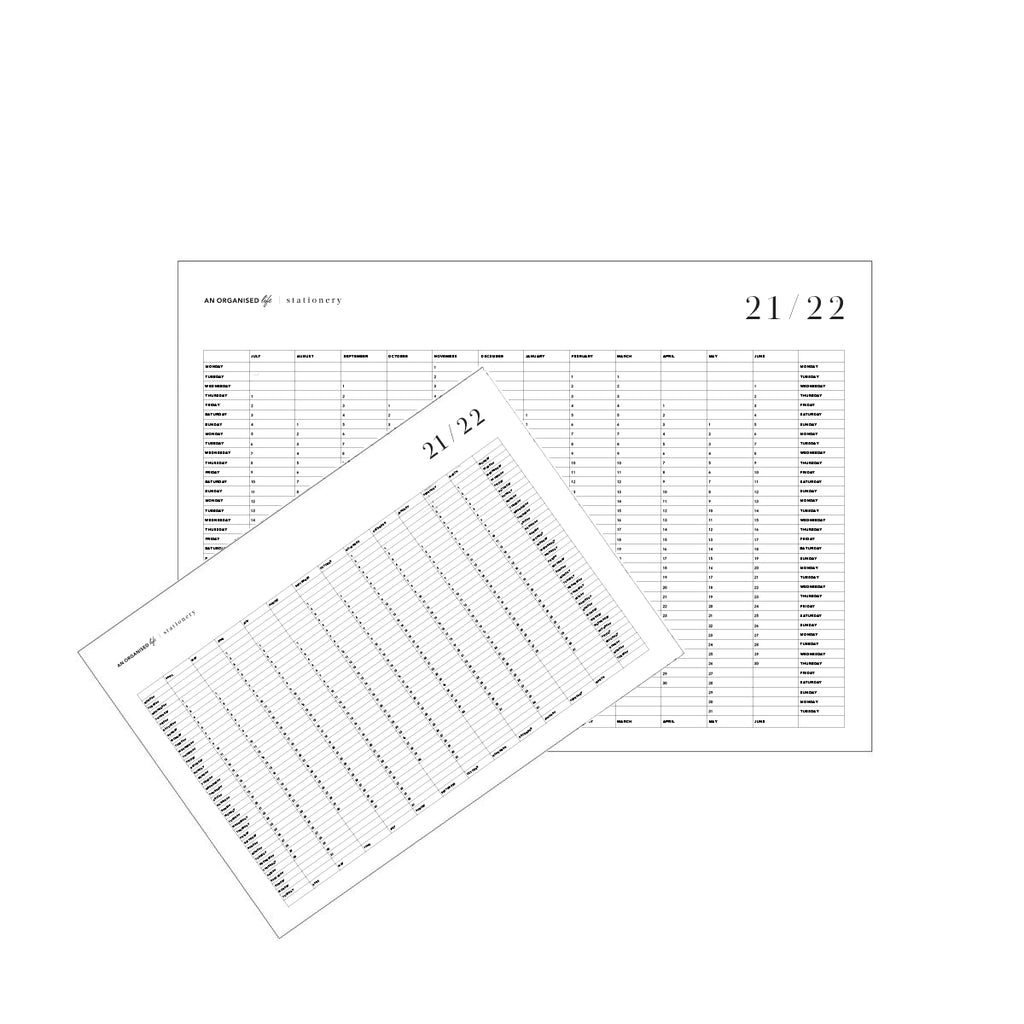 2021 / 2022 Downloadable Financial Year Wall Calendars