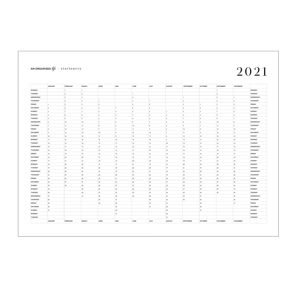 An Organised Life Wall Calendar