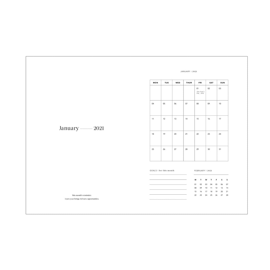 Elissa Barber x AOL 2021 Daily Planner White | Pre Order
