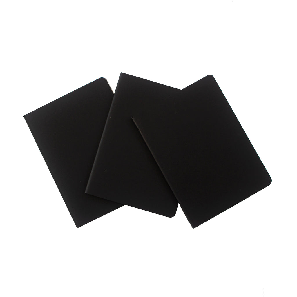 x3 Plain Paper Notebooks