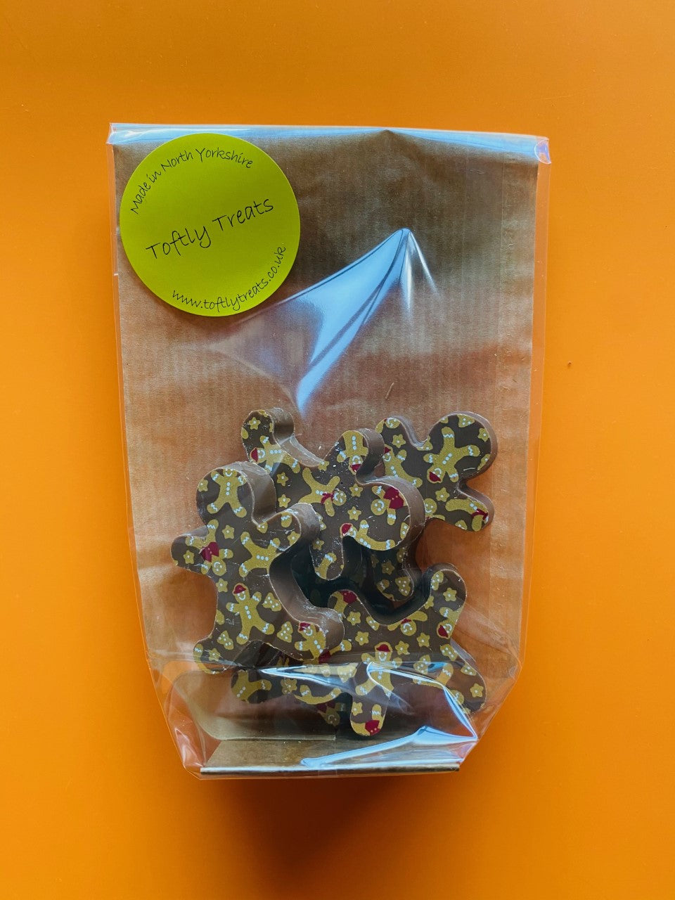 Bag of 5 Gingerbread men (Milk chocolate)