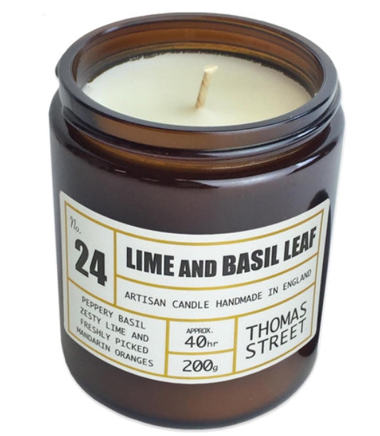 Thomas Street Apothecary | Lime and Basil Leaf Candle
