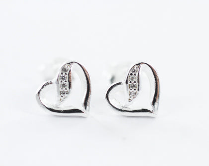 Smile Jewellery | Open Heart Cz Studs