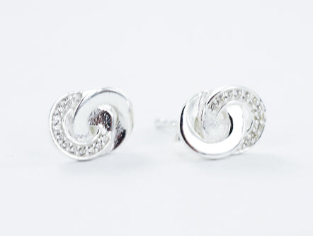Smile Jewellery | Cz Connected Circles Studs