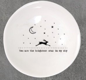 East of India | You are the Brightest Star porcelain med dish