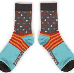 Powder - Mens Ankle Spotty socks