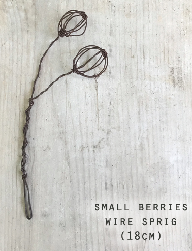 East of India | Small Berries Wire Sprig 18cm
